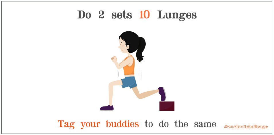 The Lunge Challenge is the ideal way to improve leg strength