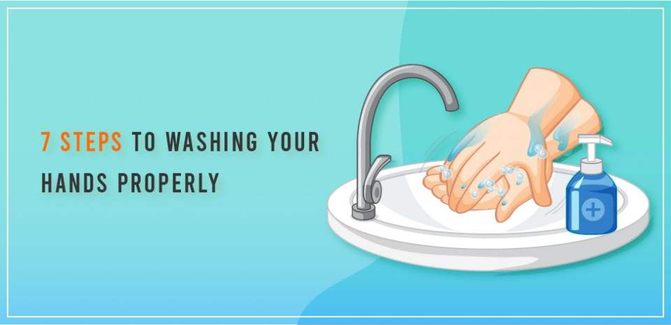 7 Steps to washing your hands properly