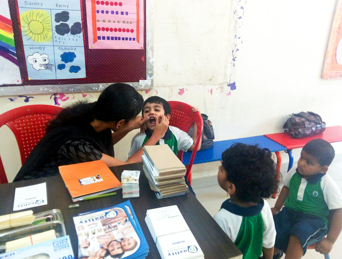 Dental Screening Camp at Ravindra Bharathi Global School